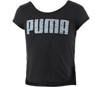 Printshirt Mädchen schwarz