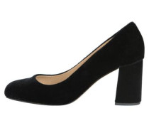 Velours-Pumps schwarz