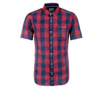 Karo-Hemd im Washed-Look blau / rot