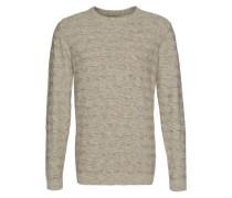 Feinstrick-Pullover 'shhcarnaby' graumeliert