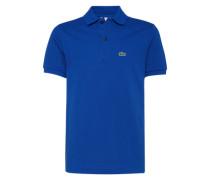 Polo-Shirt aus Baumwolle dunkelblau
