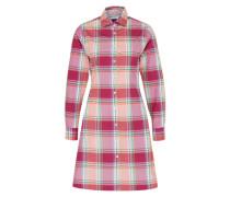 Kleid im Shirt-Stil 'madras' mischfarben