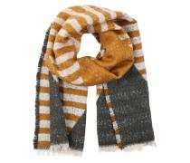 Langer Schal mit Muster 'Pcdalura' gelb