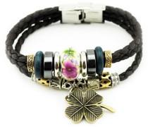 Armband »Kleeblatt« braun