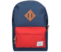 Heritage Kids Backpack Rucksack 33 cm navy / rot