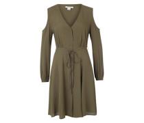 Blusenkleid mit Off-Shoulder-Details khaki
