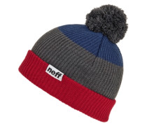 Snappy Beanie red grey navy grau