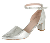 Slingpumps in Metallic-Optik silber