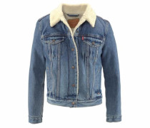 Jeansjacke 'Sherpa Trucker' blue denim