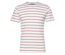 Basic-Shirt mit Streifen 'SH Dmoose' rot / weiß