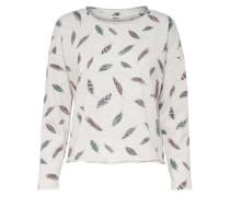 Bedrucktes Sweatshirt graumeliert