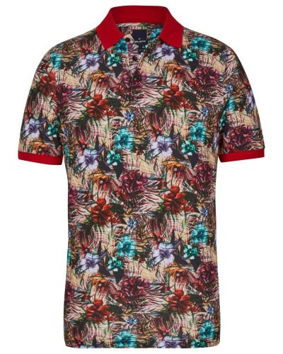 Shirt hellbeige / mischfarben / rot