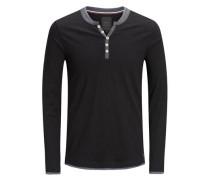Klassisches T-Shirt mit langen Ärmeln schwarz