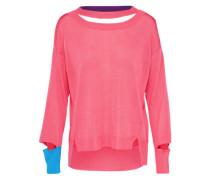 sportlicher Sweater himmelblau / pink