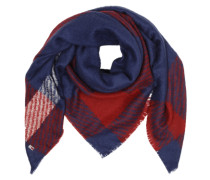 Kuschlig-weicher Schal blau / rot