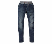 Loose-fit Schlupfjeans blau
