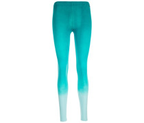 Dip Dye Legging Damen blau
