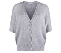 Strickjacke Cardigan Shine silbergrau