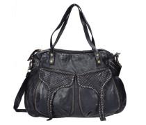 Bardana Shopper Tasche 44 cm schwarz