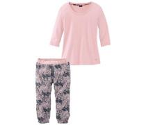 Capri-Pyjama basaltgrau / rosa