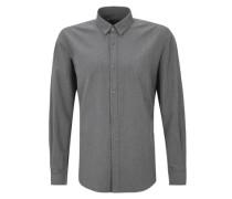 Modern Fit: Hemd in Melange-Optik grau