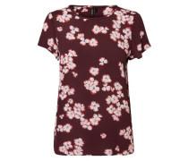 Blumen T-Shirt beere / rosa