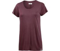 T-Shirt 'Stylo' bordeaux
