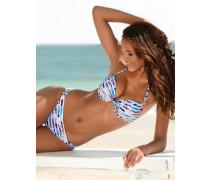 Push-up-Bikini blau