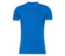 Poloshirt in Piqué-Struktur blau