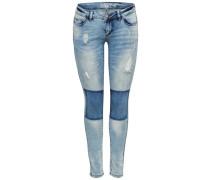 Skinny Fit Jeans 'Coral' blau