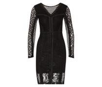 Kleid mit Spitze schwarz