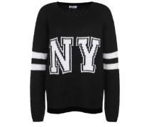 Strickpullover NY schwarz
