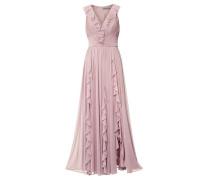 Abendkleid mit Volants rosé
