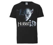 """T-Shirt """"The Hobbit - Gollum"""" schwarz / weiß"""