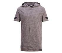 Einfarbiges Oversize T-Shirt graumeliert
