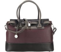 'Nathalie' Handtasche rotviolett / schwarz