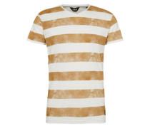 Shirt 'Joeb' senf / weiß