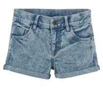 Jeansshorts mit Moonwashed-Waschung opal