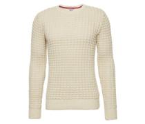 Pullover 'thdm Text CN Sweater 32' naturweiß