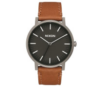 Armbanduhr 'Porter Leather' (Gehäusedurchmesser: 40mm) braun / anthrazit / schwarz