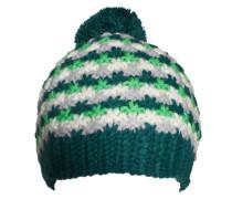 Mütze mit Bommel grün