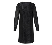 Minikleid aus Glitzergarn schwarz