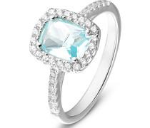 . Damen-Damenring Ring aus Sterling 925er 34 Zirkonia ' '