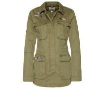 Jacke mit schönen Stickereien oliv