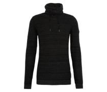 Pullover 'struct funnel' schwarz
