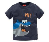 T-Shirt mit Frontdruck marine