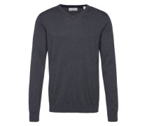 Pullover mit V-Ausschnitt grau