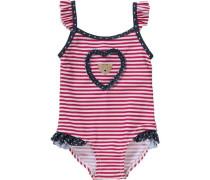 Baby Badeanzug mit UV-Schutz rot / weiß