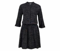 Webkleid 'Fella Dress' dunkelblau / orange / schwarz
