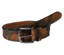 Ledergürtel mit Camouflage braun